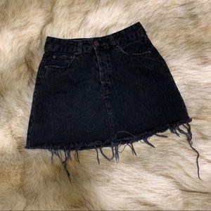 Bershka black denim skirt
